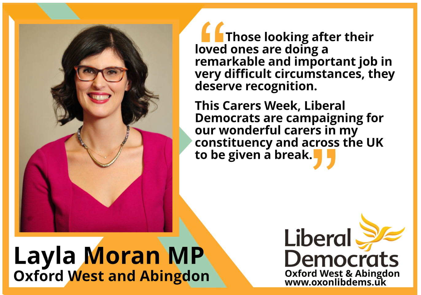 key_This Carers Week, Liberal Democrats are campaigning for our wonderful carers in my constituency and across the UK to be given a break.