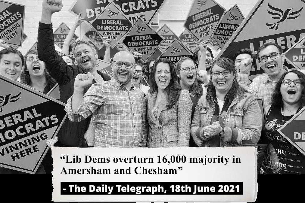 Lib Dems win Chesham and Amersham Parliamentary election