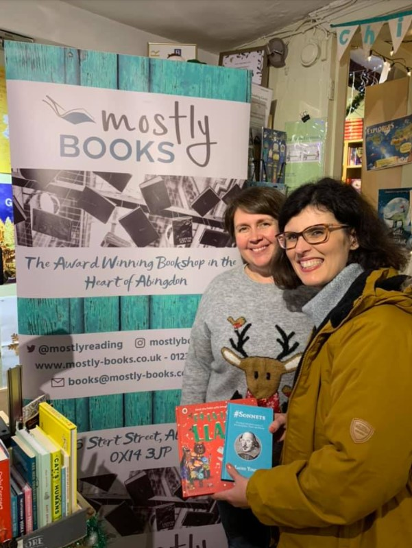 key_Mostly Books Visit for Small Business Saturday 2019- Picture credit Layla Moran MP