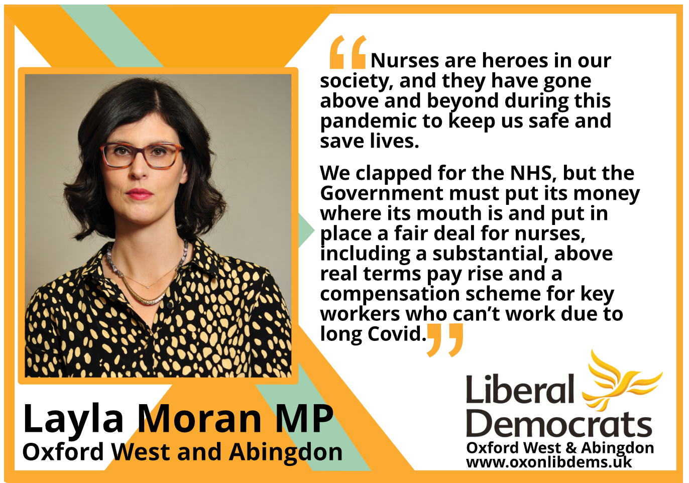 Nurses are heroes in our society, and they have gone above and beyond during this pandemic to keep us safe and save lives.
