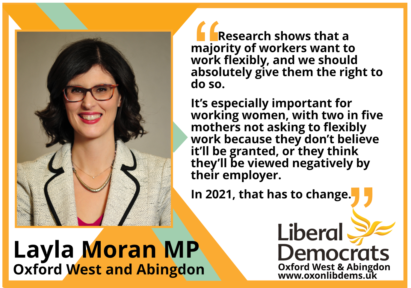 key_Research shows that a majority of workers want to work flexibly, and we should absolutely give them the right to do so. It's especially i