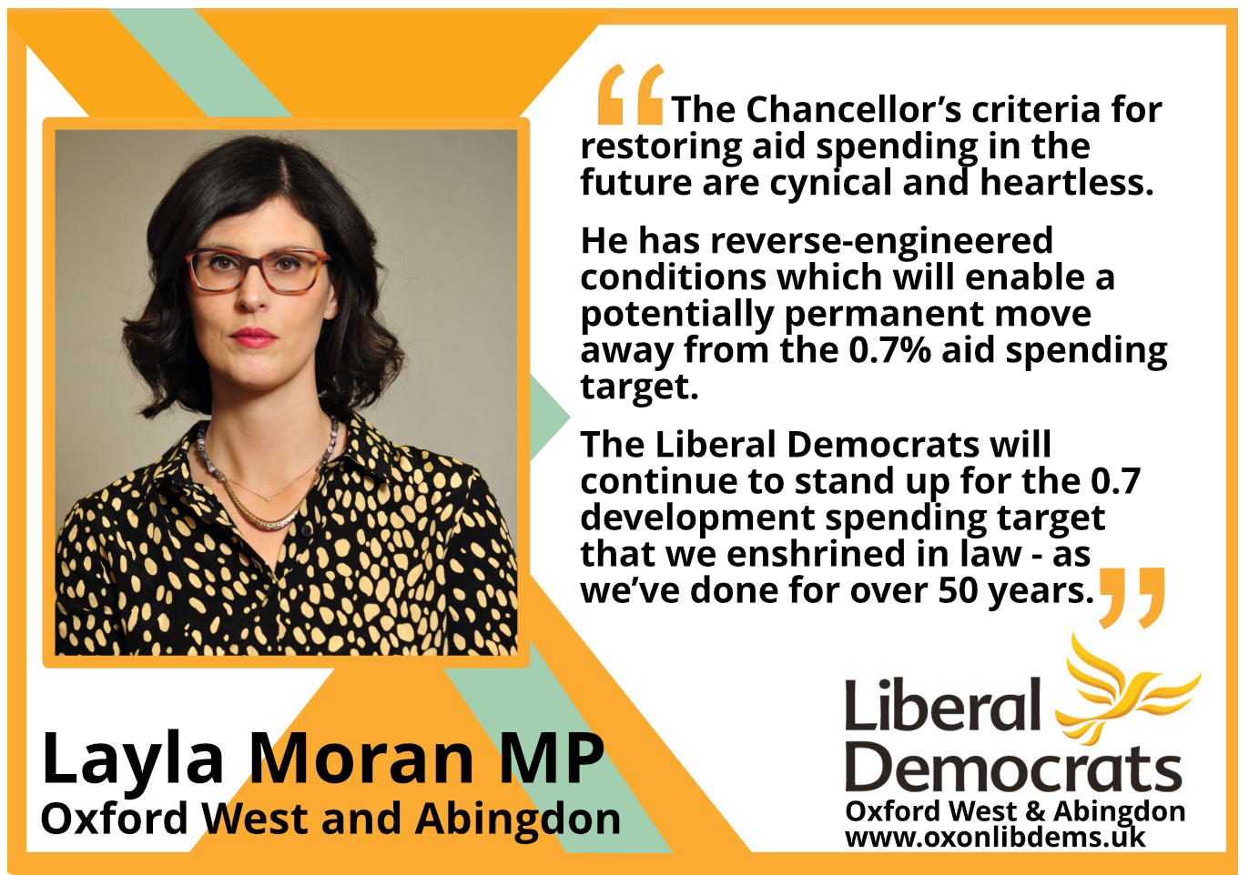 key_The Liberal Democrats will continue to stand up for the 0.7 development spending target that we enshrined in law - as we've done for over 50 years