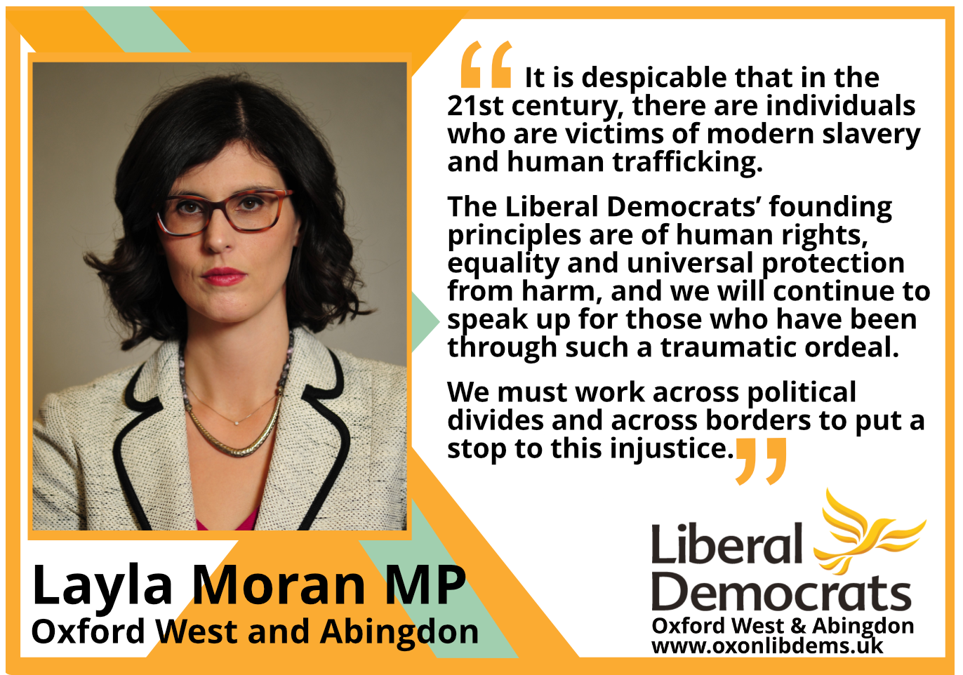 It is despicable that in the 21st century, there are individuals who are victims of modern slavery and human trafficking.