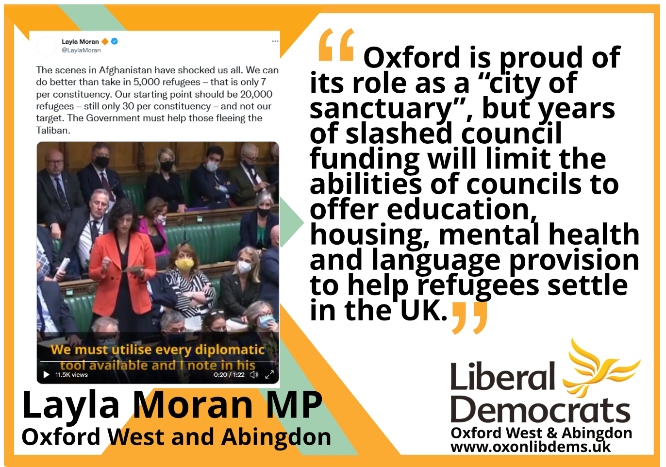 """key_           Oxford is proud of its role as a """"city of sanctuary"""", but years of slashed council funding will limit the abilities of councils to offer education, housing, mental health and language provision to help refugees settle in the UK."""