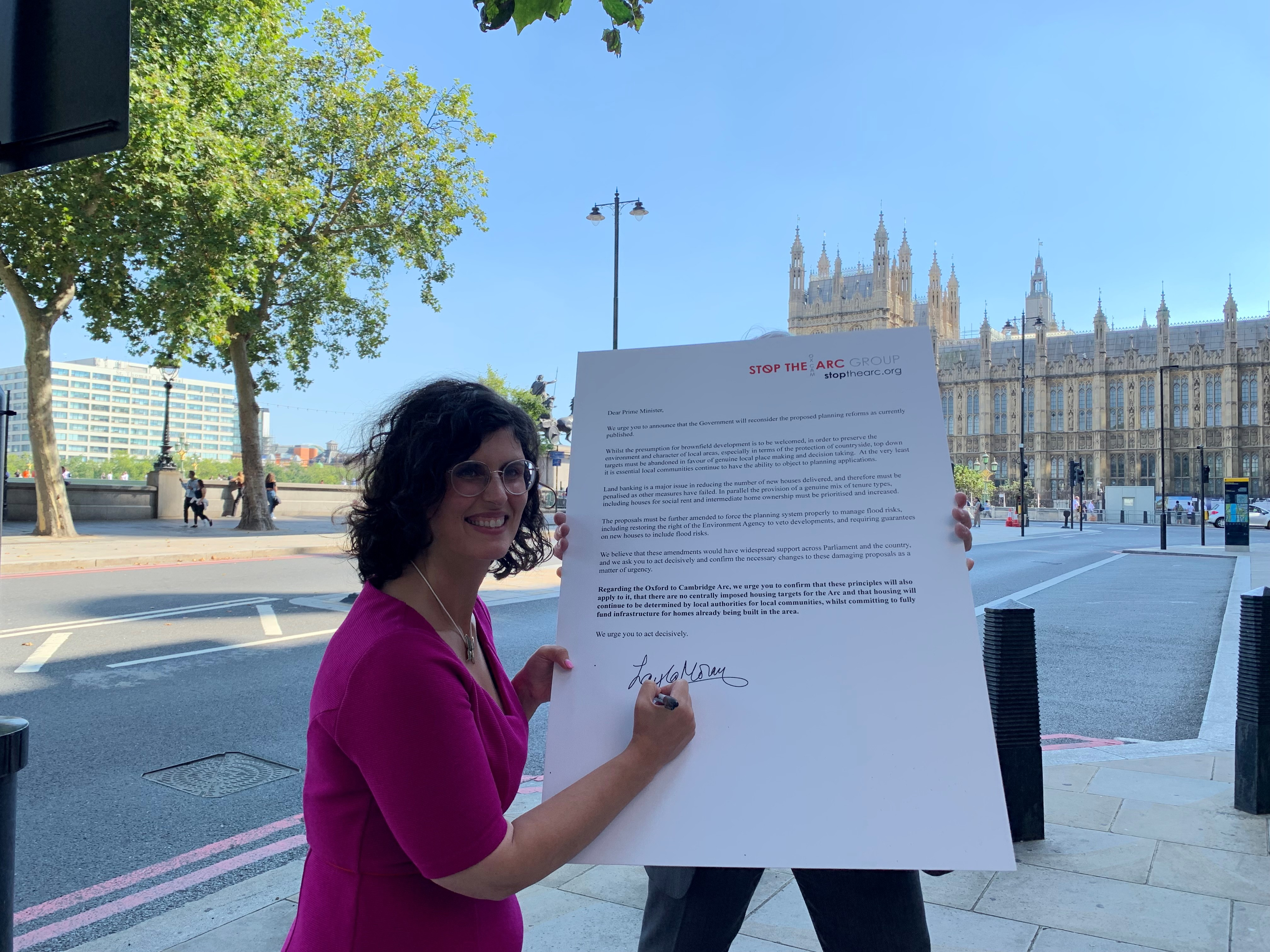 key_Layla Moran signs open letter to PM on planning reforms 070921_copyright Layla Moran MP