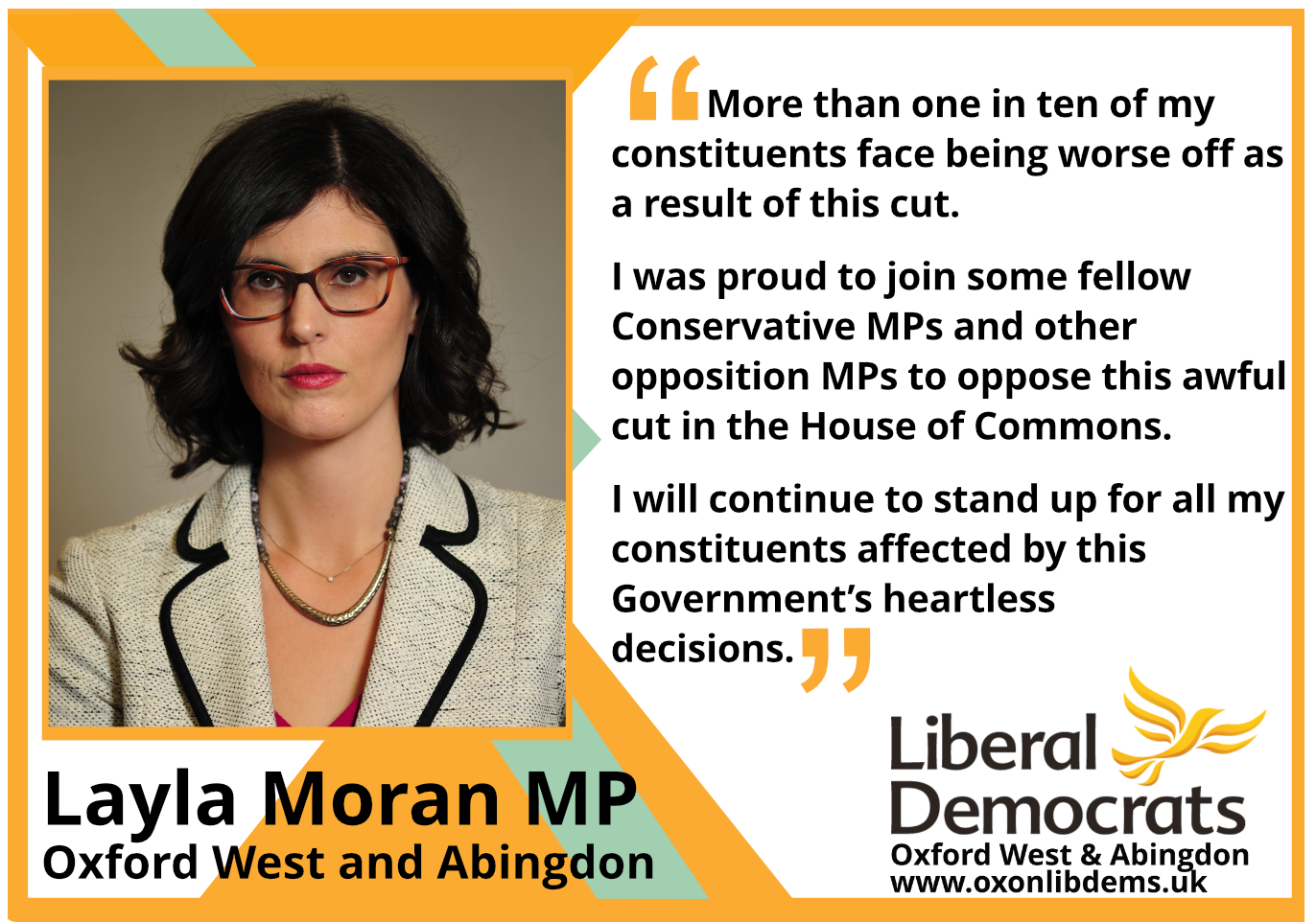 key_More than one in ten of my constituents face being worse off as a result of this cut. I was proud to join some fellow Conservative MPs and other opposition MPs to oppose this awful cut in the Commons this afternoon. I will continue to stand up for all my constituents affected by this Government's heartless decisions.