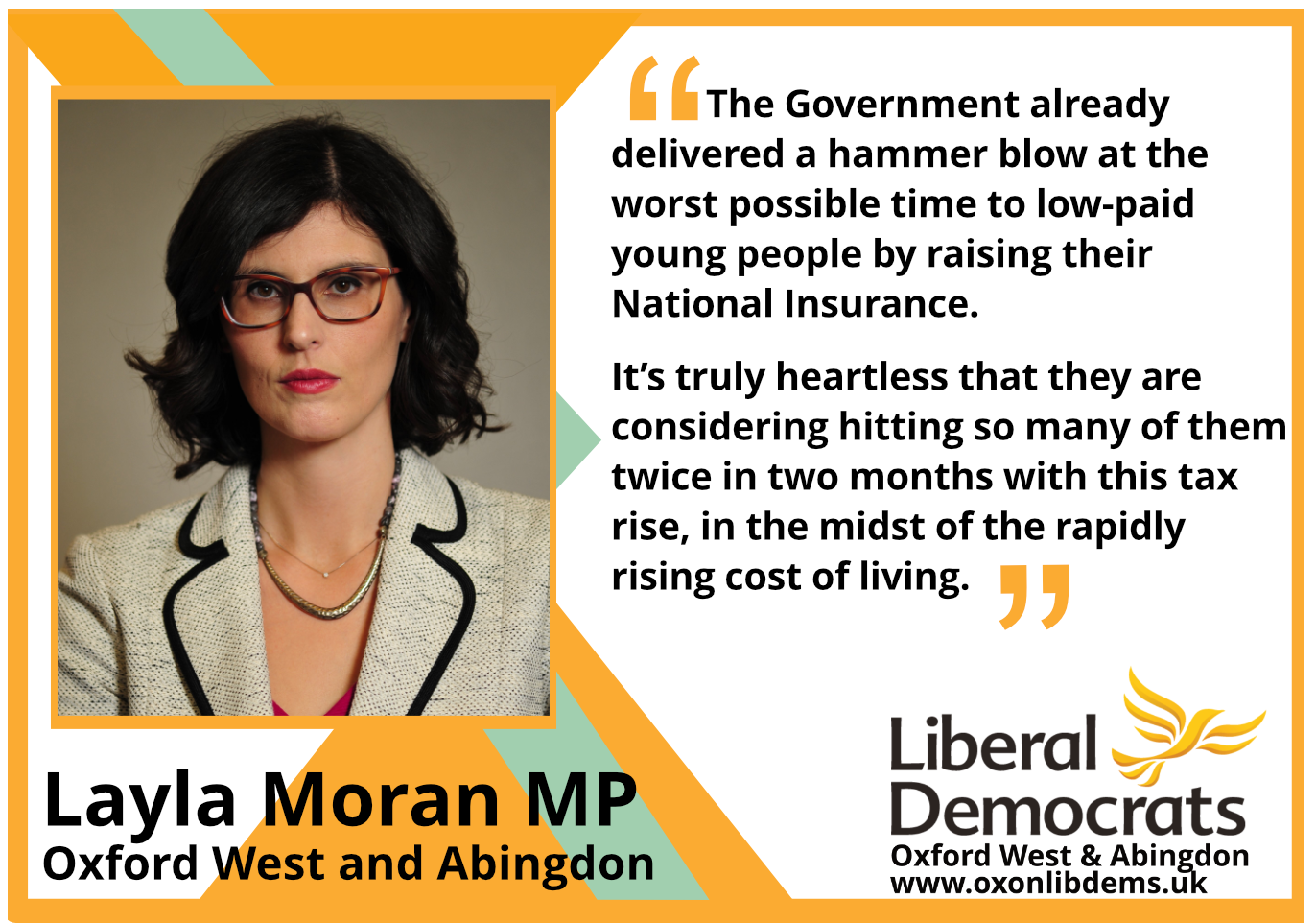 key_The Government already delivered a hammer blow at the worst possible time to low-paid young people by raising their National Insurance. It's truly heartless that they are considering hitting so many of them twice in two months with this tax rise, in the midst of the rapidly rising cost of living