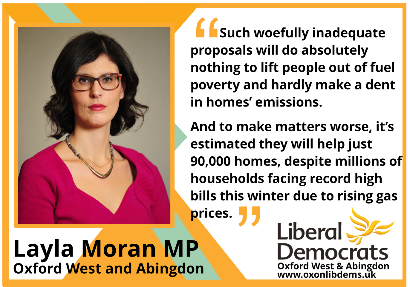 key_Such woefully inadequate proposals will do absolutely nothing to lift people out of fuel poverty and hardly make a dent in homes' emissions. And to make matters worse, it's estimated they will help just 90,000 homes, despite millions of households facing record high bills this winter due to rising gas prices