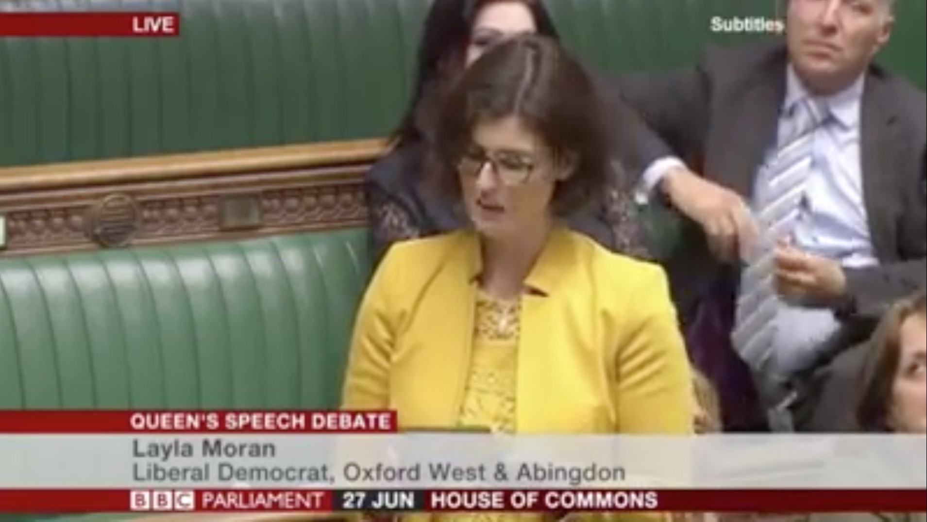 Impressive debut for Layla Moran as our new MP