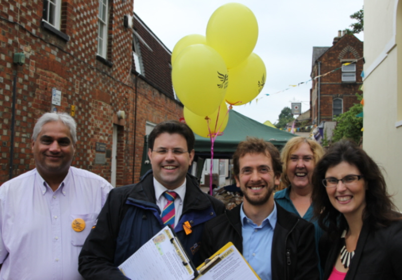 Antony Hook and team campaigning in Oxford to remain part of the EU