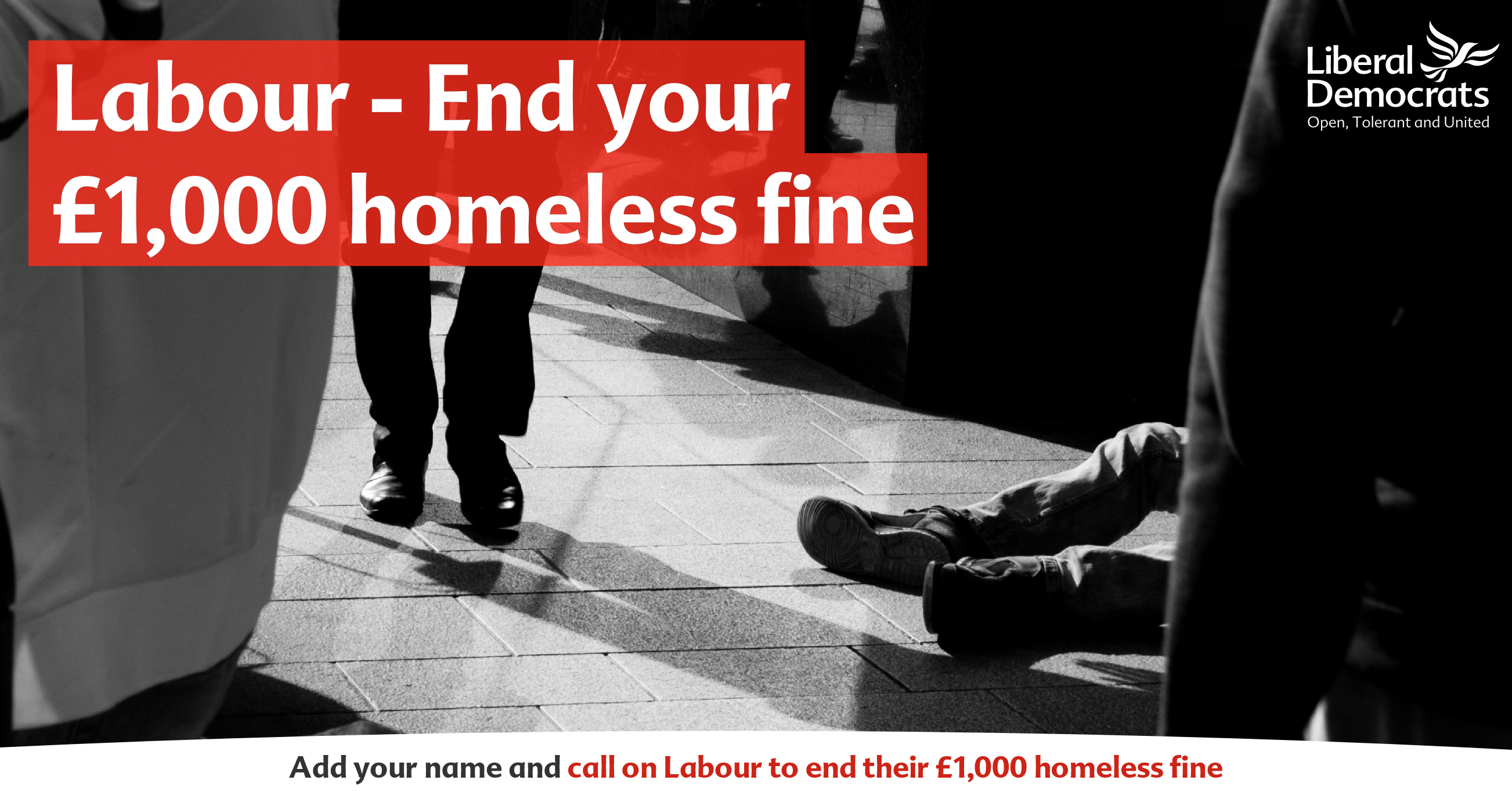 Scrap the £1k Homeless Fine