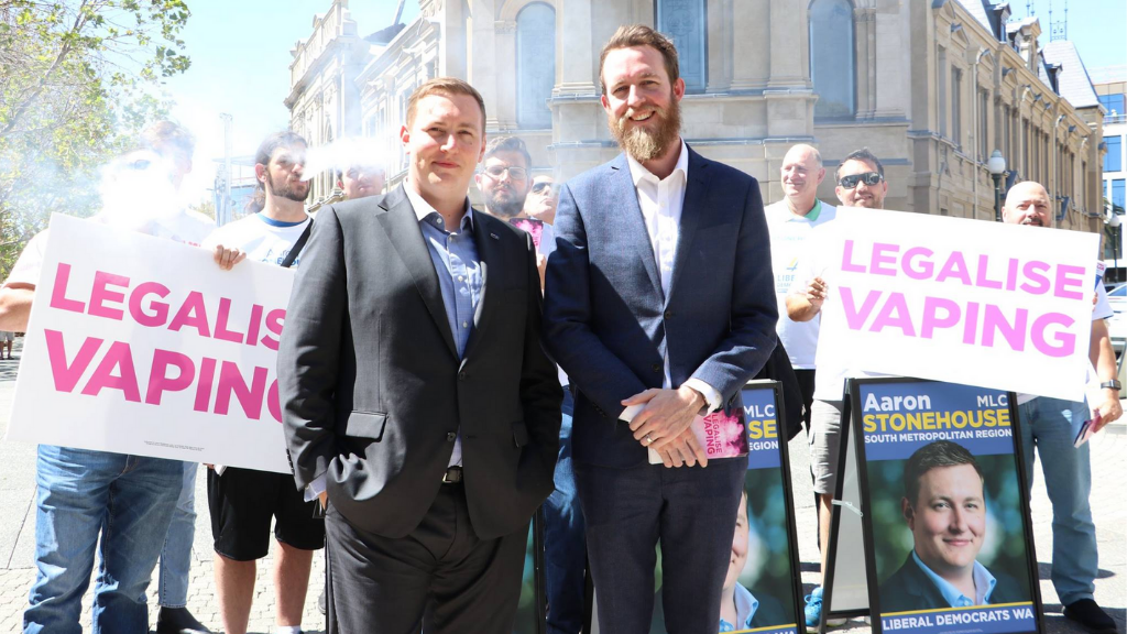 Aaron Stonehouse and John Gray campaigning for your freedom