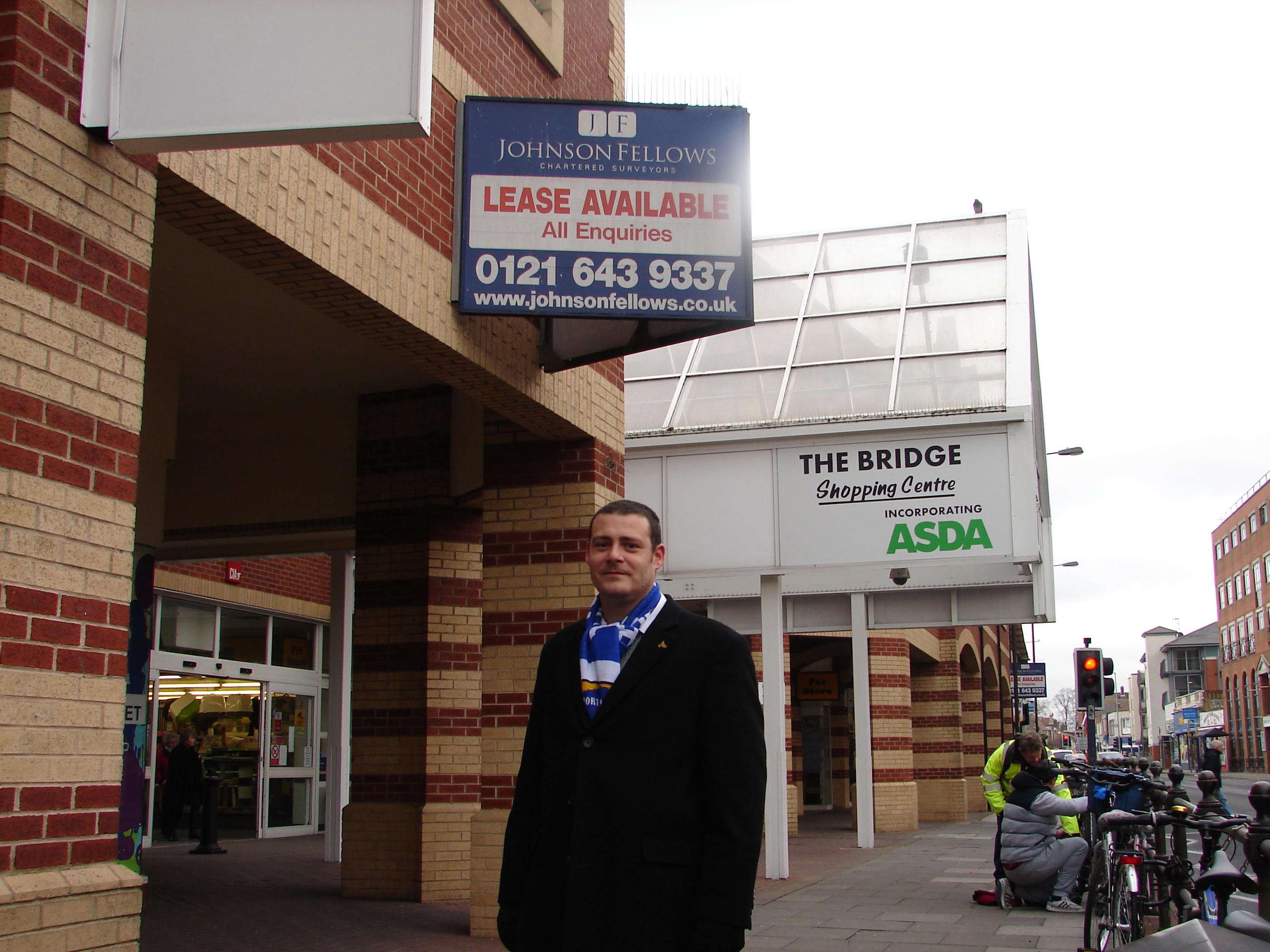 Lib Dem councillor Dave Ashmore at Fratton Road