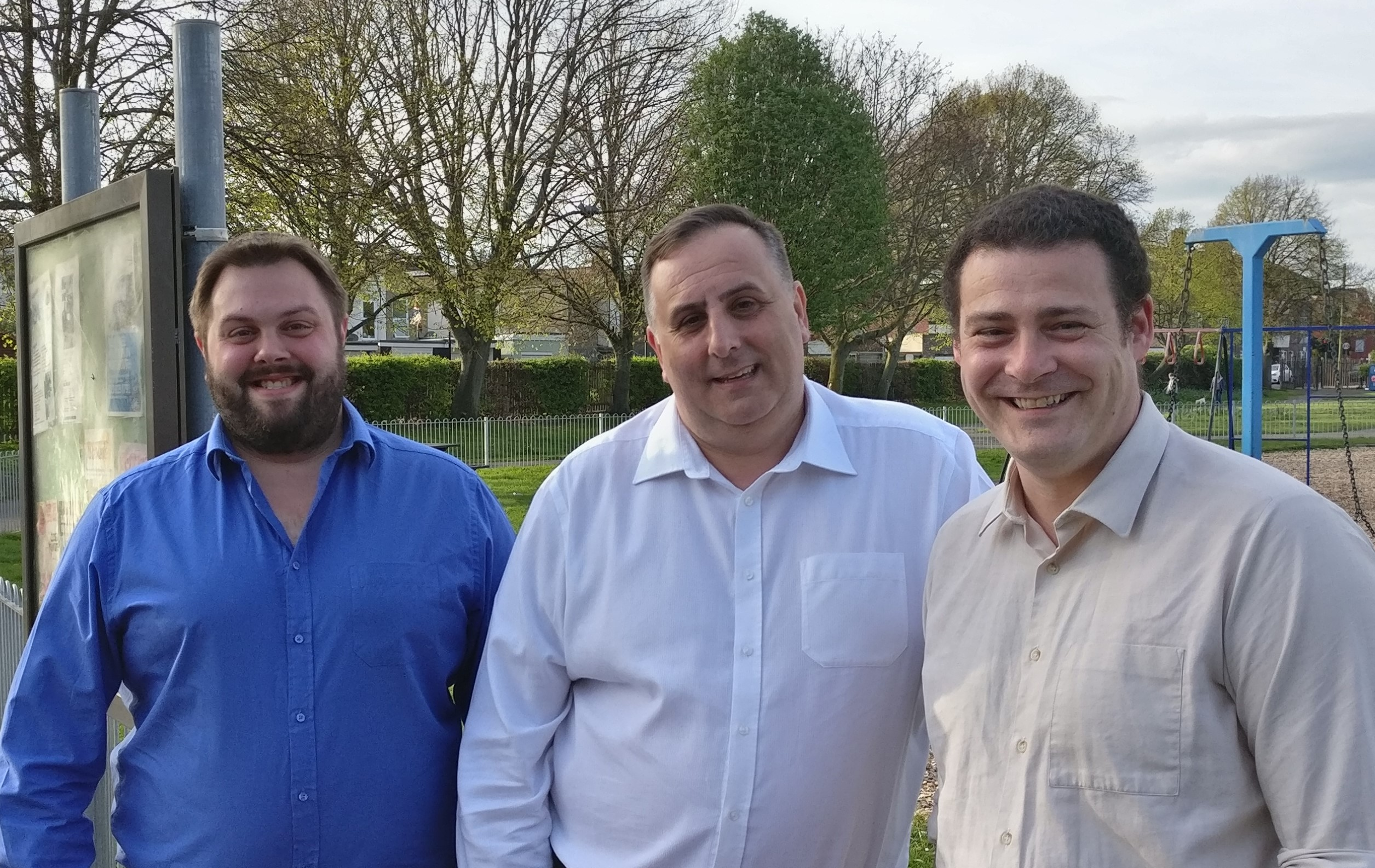 Stuart Brown with Fratton Lib Dem councillors David Fuller and Dave Ashmore