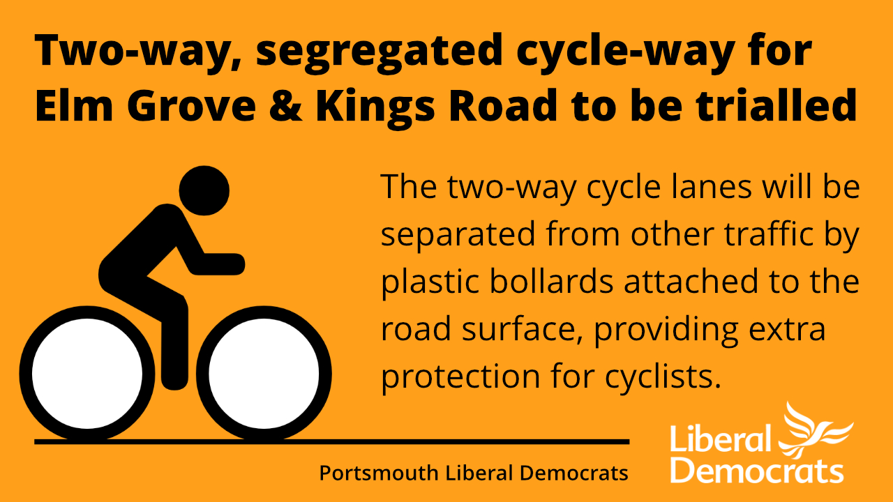 Elm Grove and Kings Road will get segregated cycle lanes