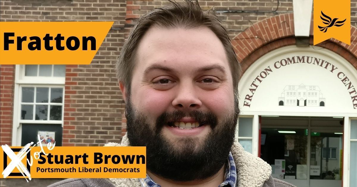 Your Fratton ward candidate in the May 6th local elections: Stuart Brown