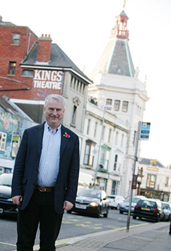 Parliamentary candidate Gerald Vernon-Jackson at the Kings Theatre
