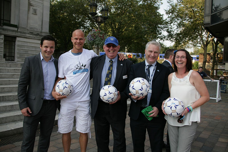 Councillor Gerald Vernon-Jackson supports the City of Football bid