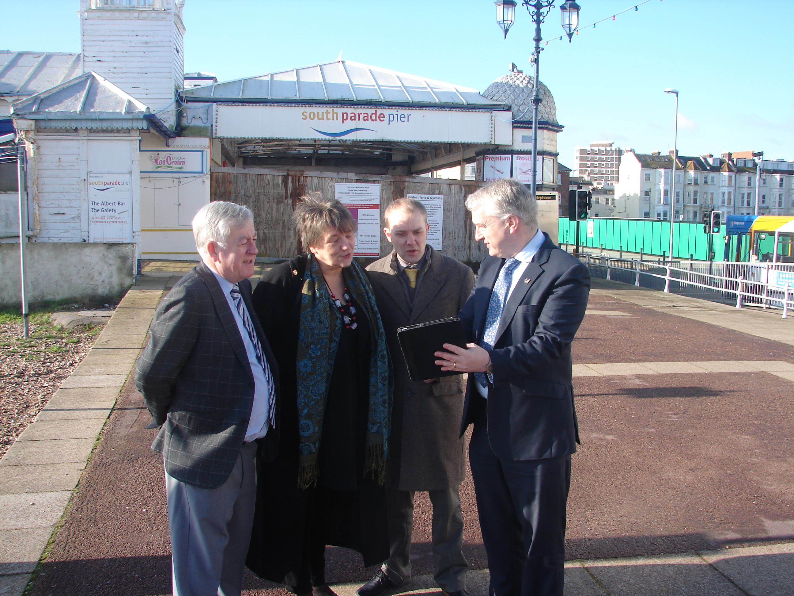 South Parade Pier: Work Continues
