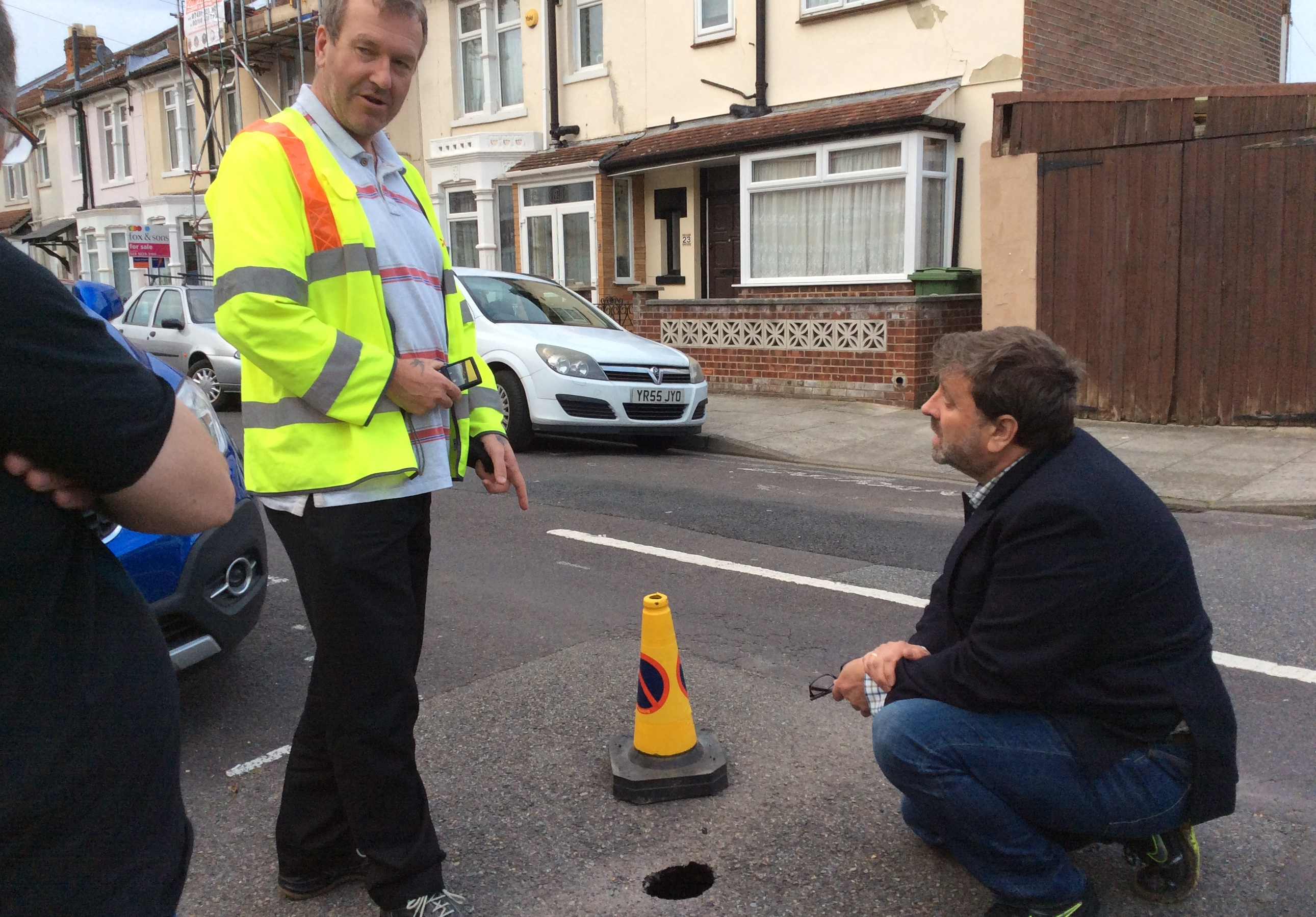 Residents delighted with swift Lib Dem action on 'sink hole'