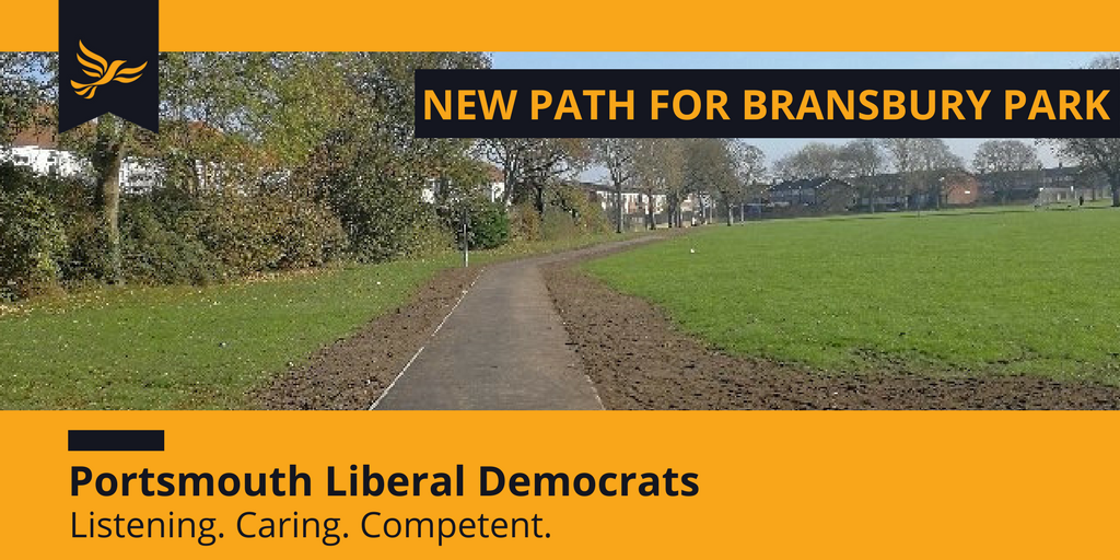 New Path for Bransbury Park