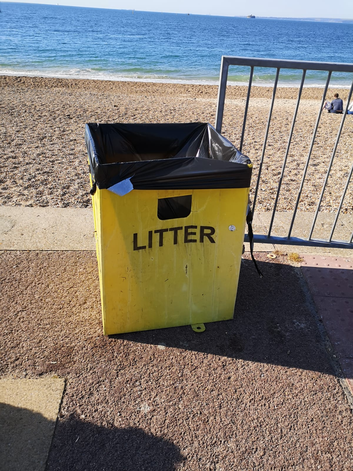Additional, larger bins now in place along the seafront
