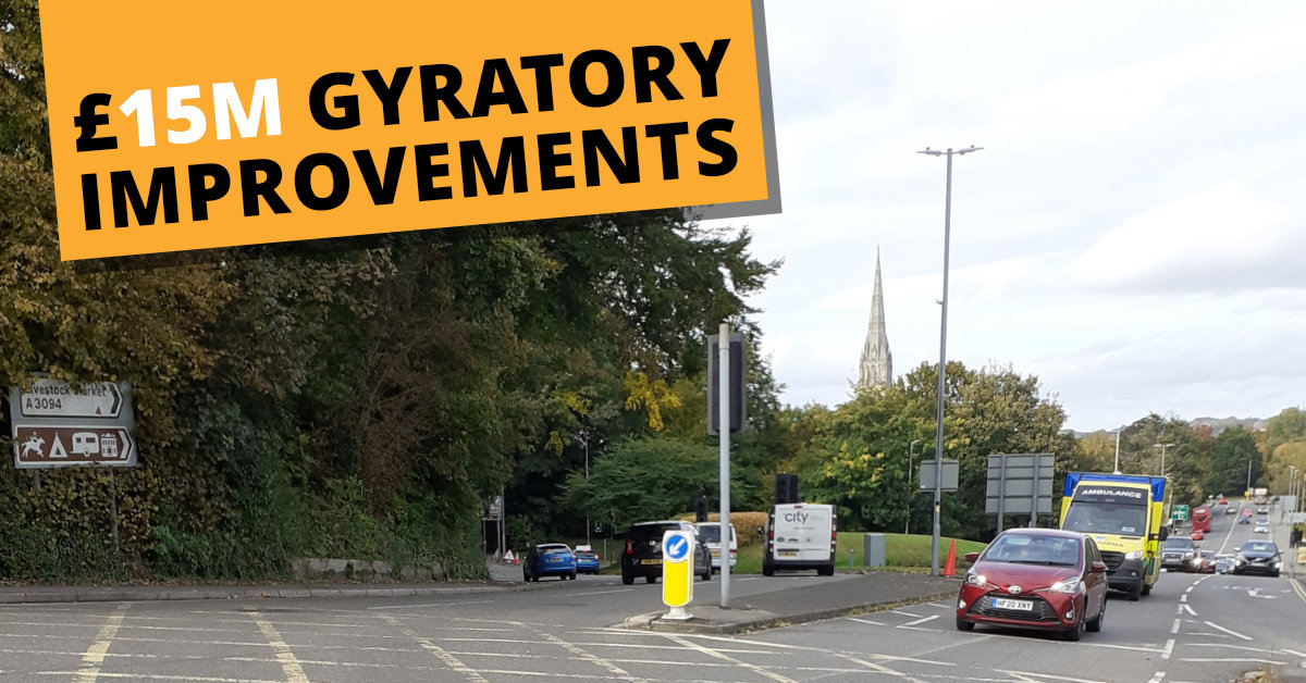 Will there be relief on the Harnham Gyratory?