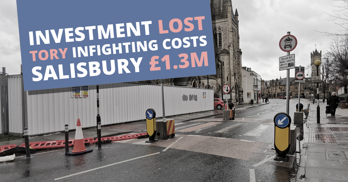 Tory mismanagement loses city £1.3m investment