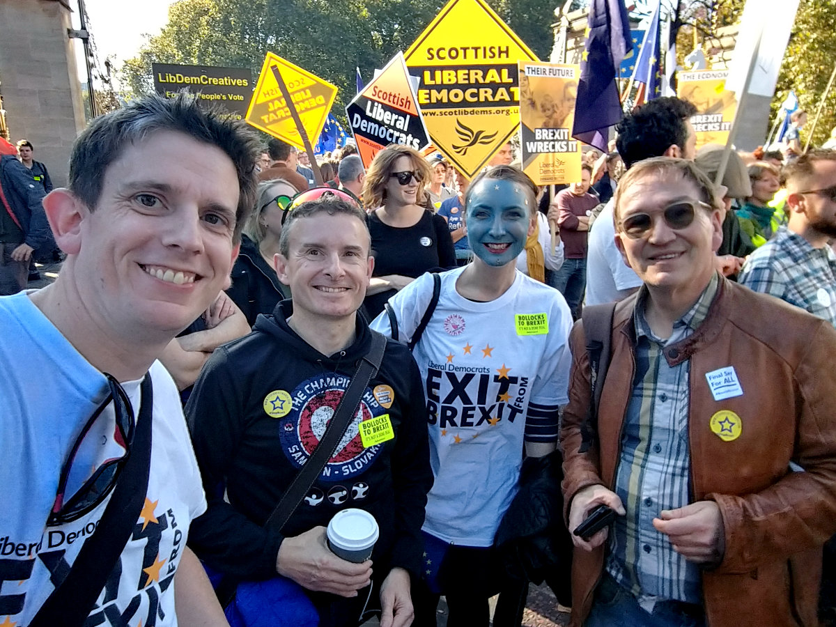 Salisbury Lib Dems at the People's Vote March