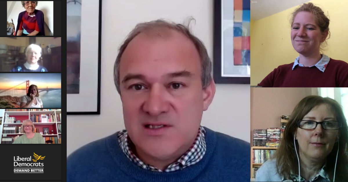 Ed Davey comes to Salisbury for a Virtual Coffee Morning.