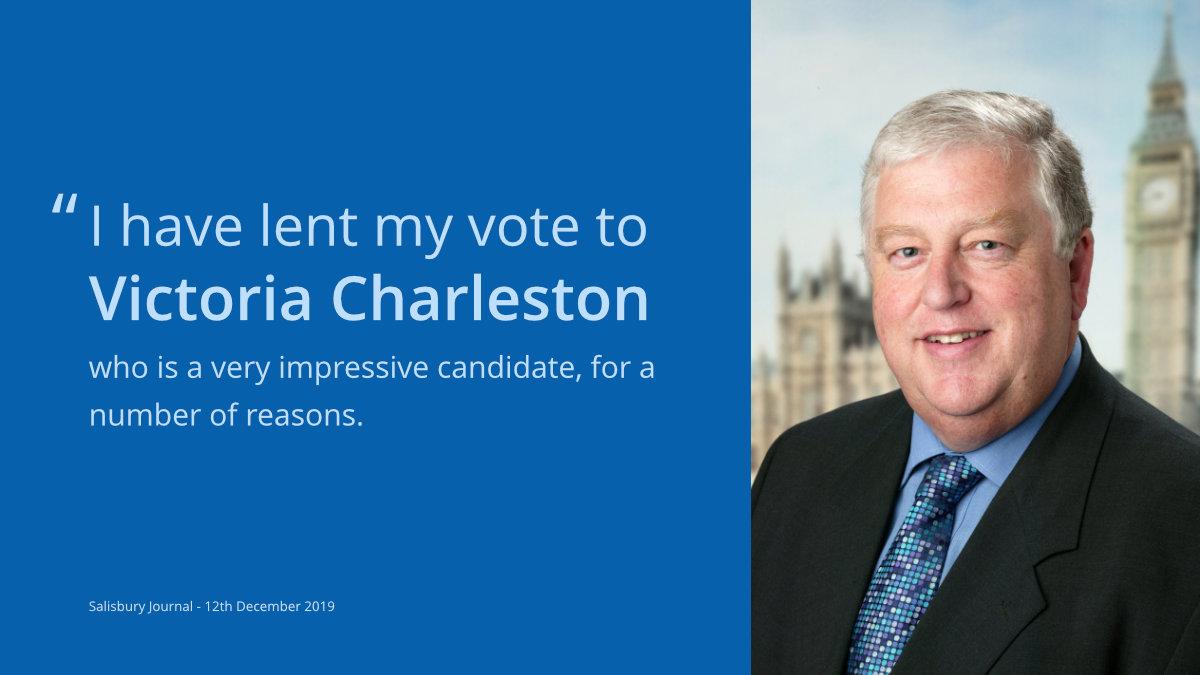 Robert Key endorses Victoria Charleston