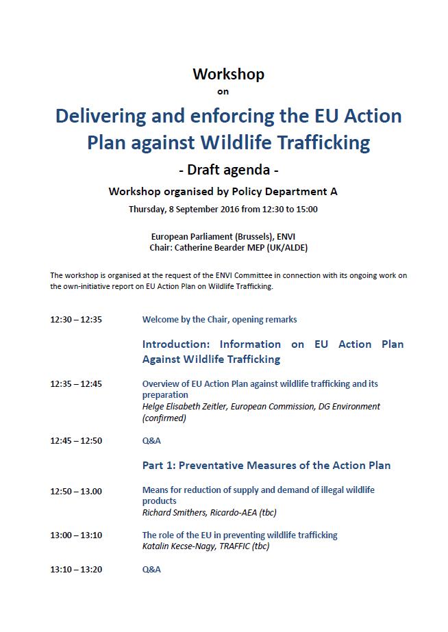 Wildlife seminar in the European Parliament