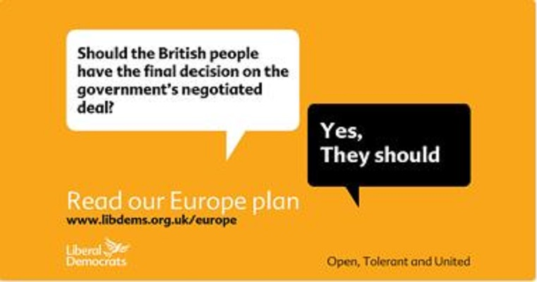Liberal Democrats launch plan for Britain in Europe
