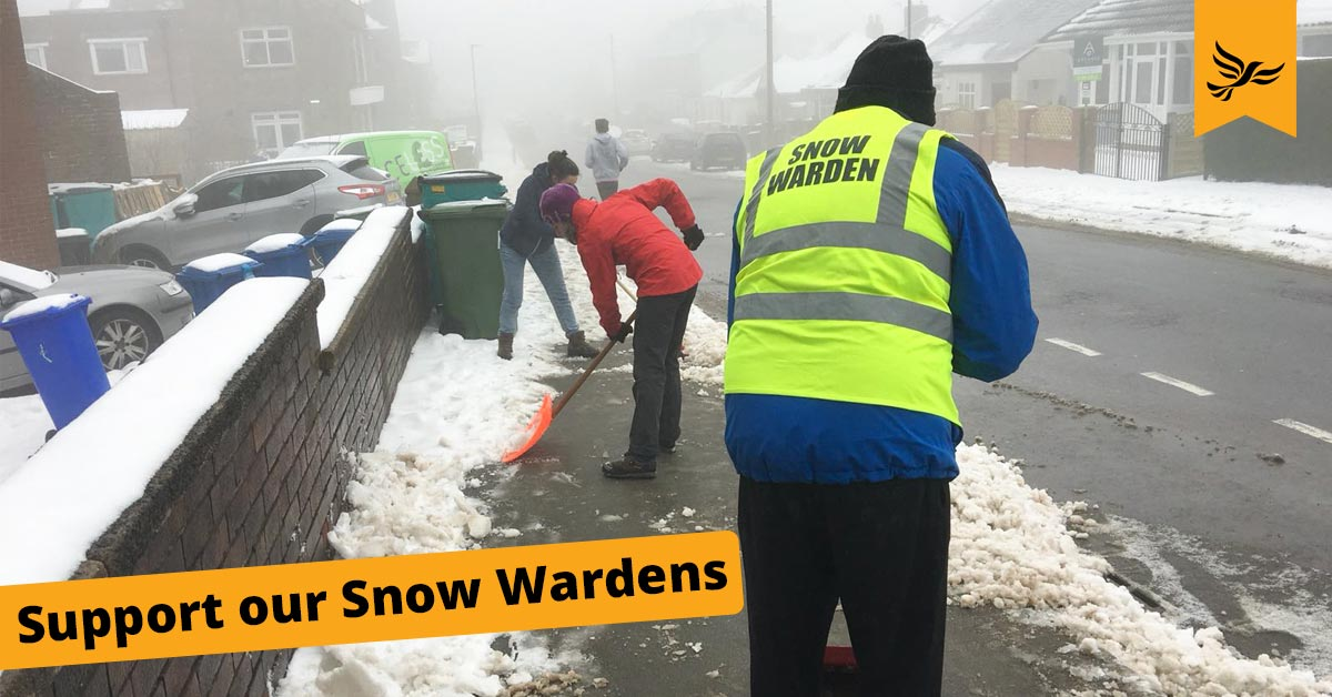 Support Sheffield's Snow Wardens