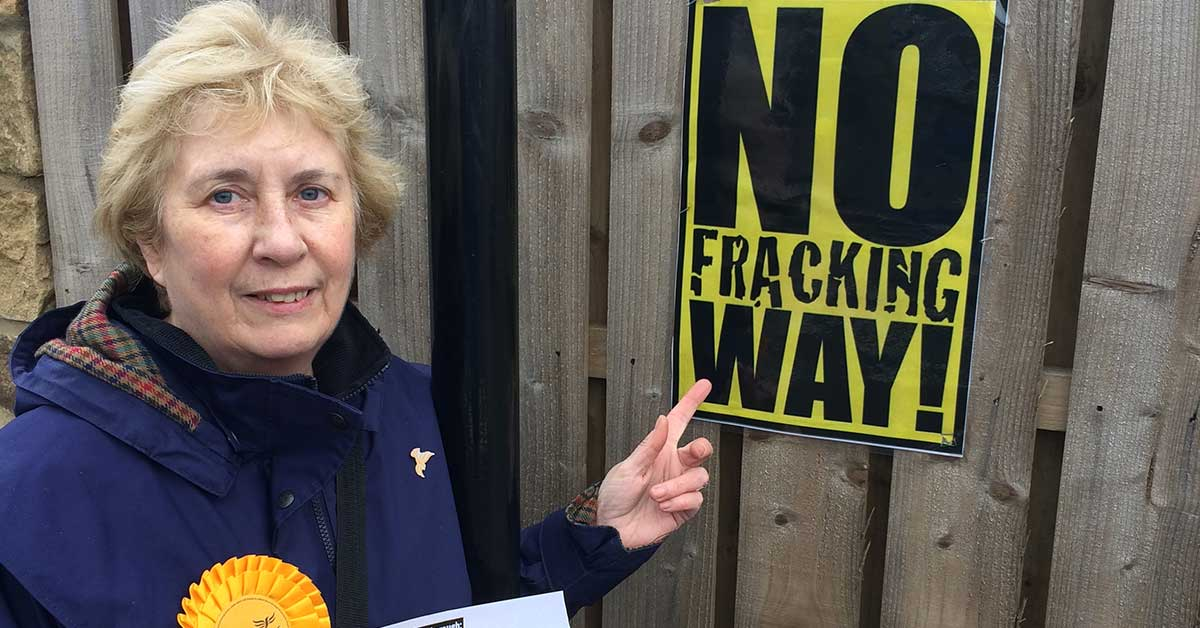 Cllr Gail Smith has campaigned against fracking