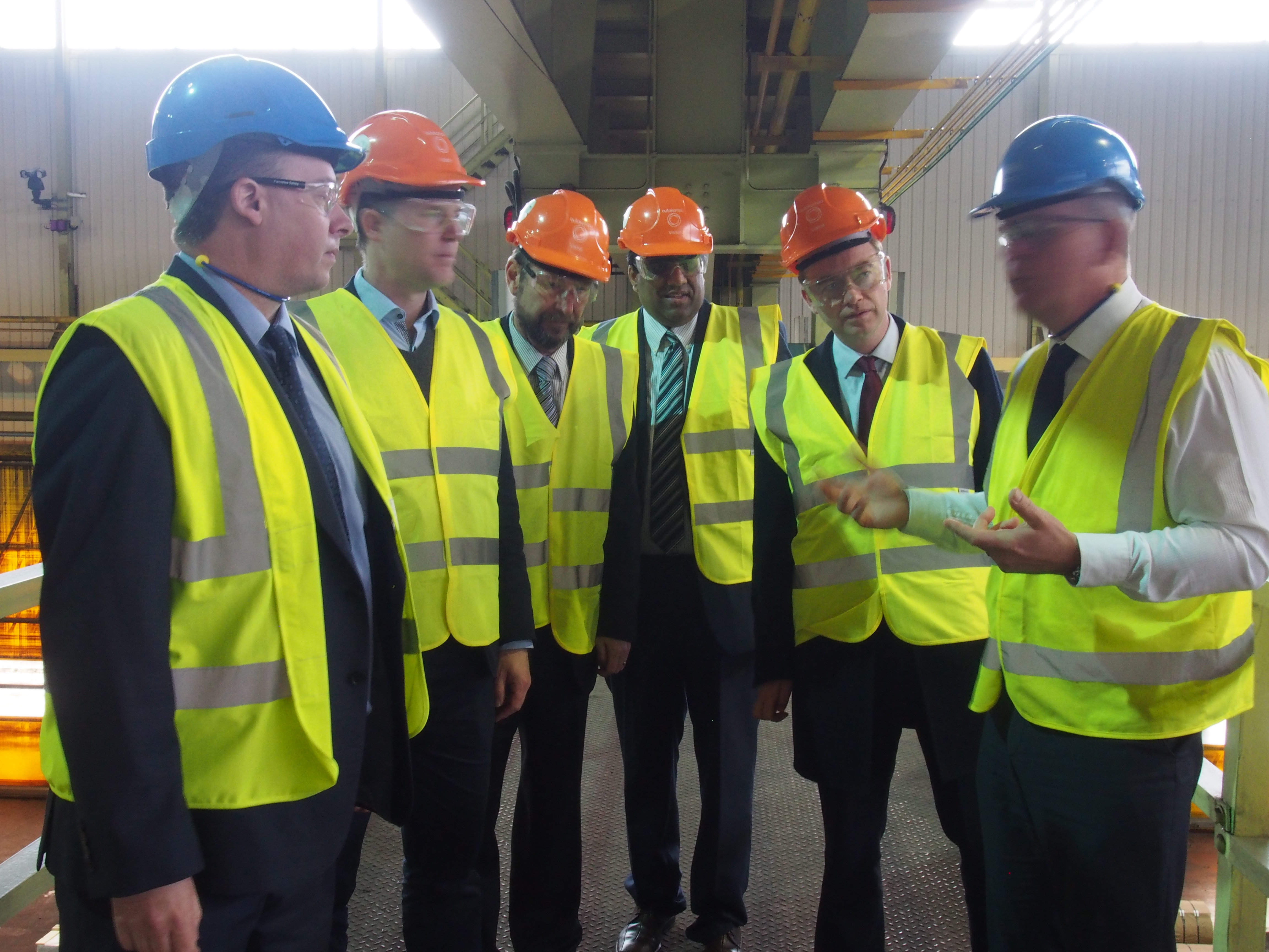 Tim Farron and Nick Clegg visit Sheffield Steel Works