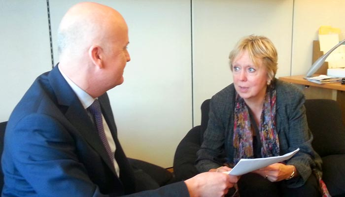 Lorely Burt discusses Solihull Ambulances with Andrew Marsh