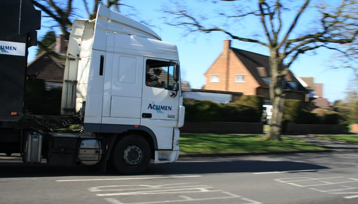 An Acumen Car Transporter on Yew Tree Lane, Solihull