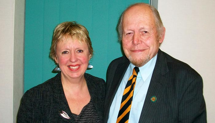 Lib Dem Group Leader Councillor John Windmill with Lorely Burt MP
