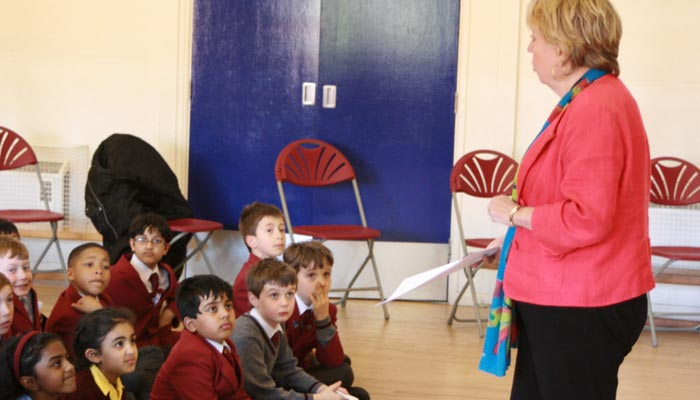 Lorely Burt at Eversfield School