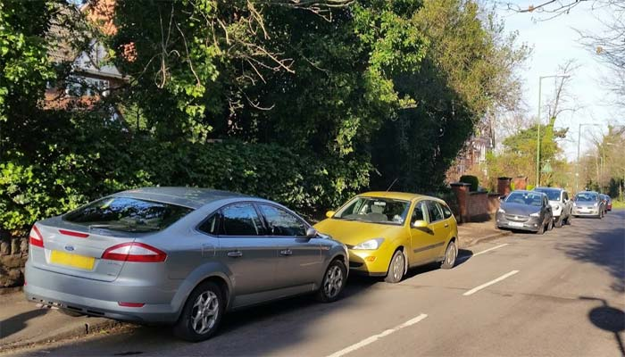 Photo of cars parked on Old Warwick Road, Solihull.