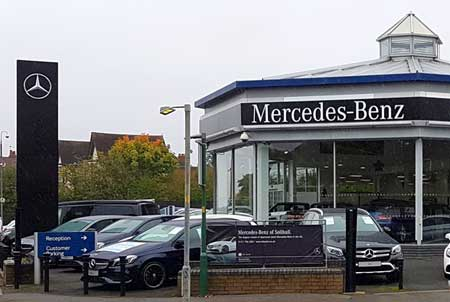 Mercedes Dealership from Dovehouse Parade