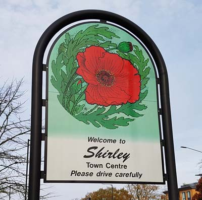 welcome to shirley sign
