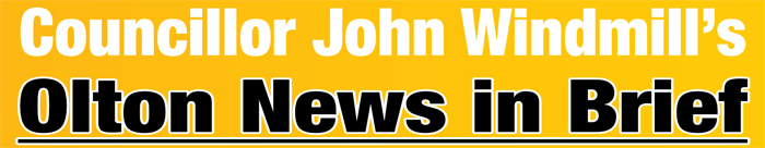 Councillor John Windmill's News in Brief