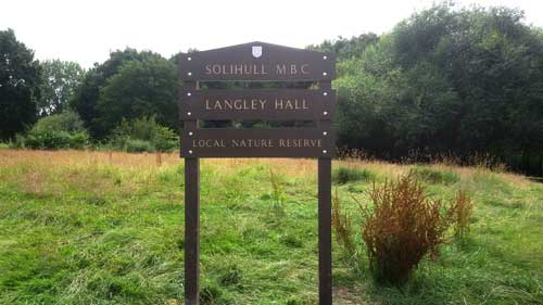 Langley Hall Park sign