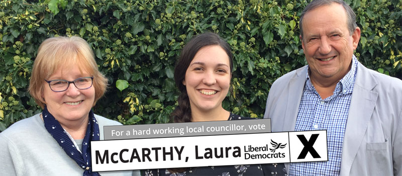Vote for Laura McCarthy in Elmdon, photo with ward councillors