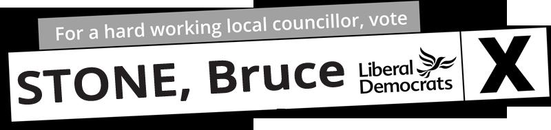Vote bruce Stone in Silhill Ward