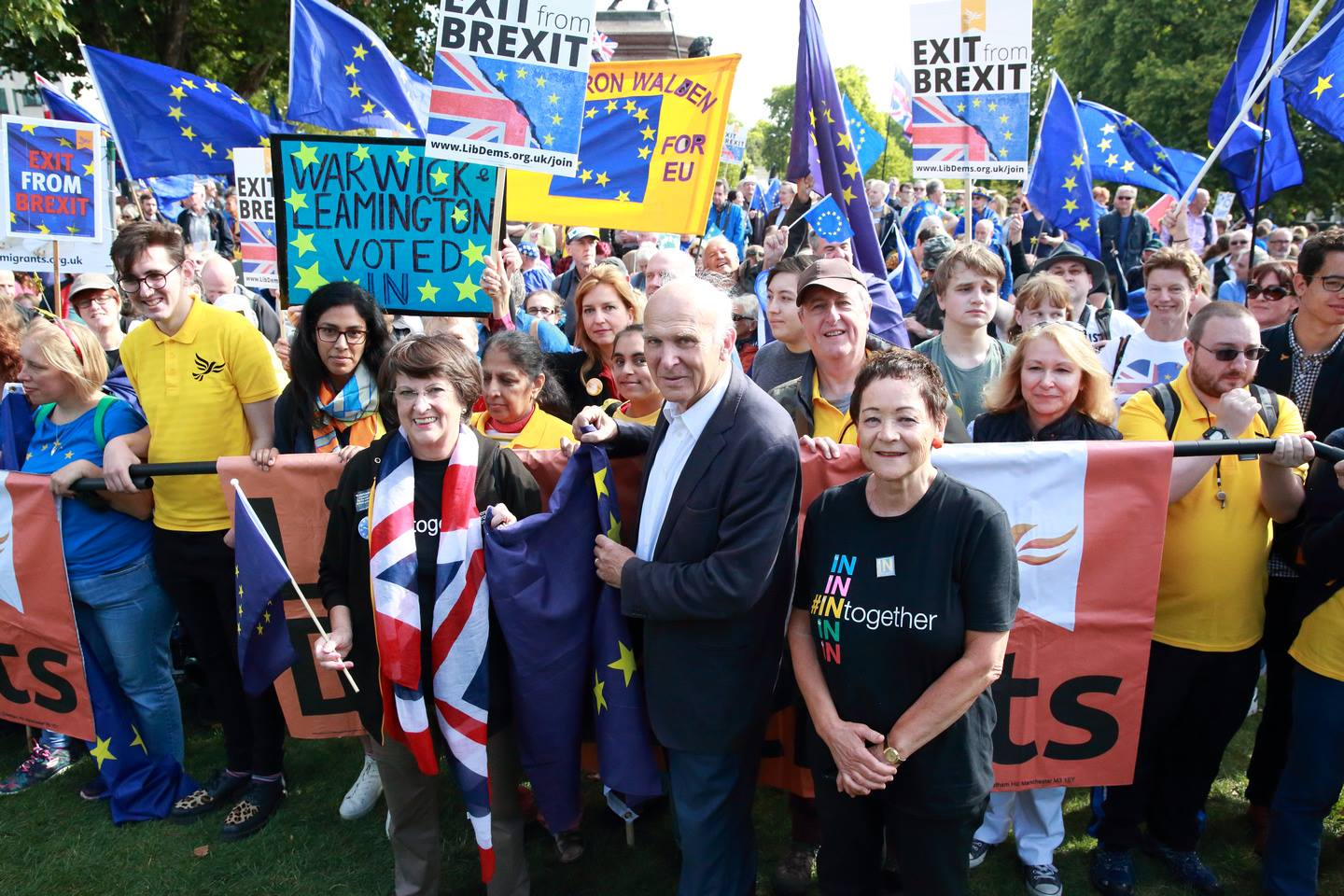 Lib Dems march for Exit from Brexit