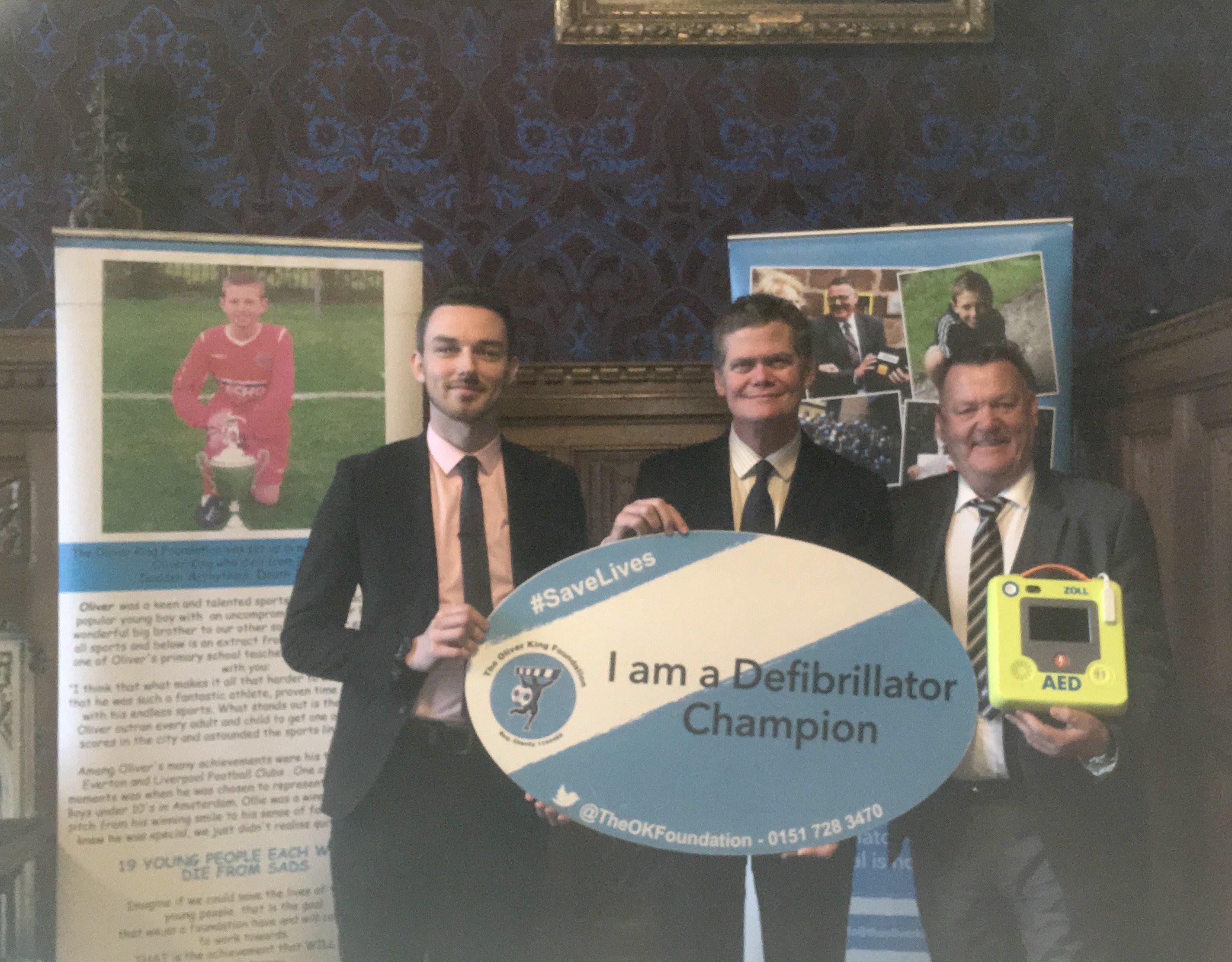 Stephen backs lifesaving defibrillator campaign