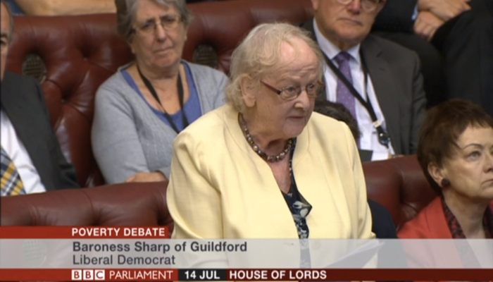 In full: Baroness Margaret Sharp's valedictory Lords speech – on relationship between poor education and poverty